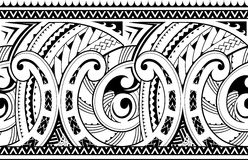 Seamless ethnic tribal ornament. Maori style ornament. Good for seamless sleeve tattoo Royalty Free Stock Images