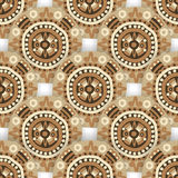 Seamless  ethnic tribal pattern with  aztec motives. Royalty Free Stock Image