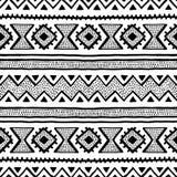 Seamless ethnic and tribal pattern. Handmade. Horizontal stripes Royalty Free Stock Photography
