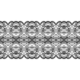 Seamless Ethnic, Tribal Pattern in vector. Border with fish elements.  Royalty Free Stock Images