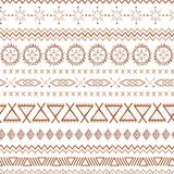 Coffee seamless pattern mexico vector brown ethnic tribal mexican textures in caramel color vector illustration