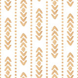Seamless ethnic vector golden texture on a white background. Sweetheart vector illustration Stock Image