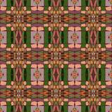 Seamless ethnic vector print pattern. Royalty Free Stock Photo