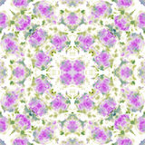 Seamless ethnic watercolor kaleidoscope pattern Royalty Free Stock Images