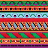 Seamless etnisk bakgrund Arkivbild