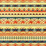 seamless etnisk modell Aztec och stam- motiv Grunge textur Arkivbilder