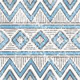 seamless etnisk modell Aztec och stam- motiv Grunge textur Arkivfoton