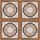 seamless etnisk modell Dekorativ prydnad för tyg, textil stock illustrationer