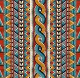 seamless etnisk modell Hand dragen abstrakt geometrisk bakgrund vektor illustrationer