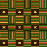 seamless etnisk modell Kente Cloth Stam- tryck vektor illustrationer