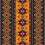 seamless etnisk modell Stam- kilim Aztec mexicanskt, Boho, infött tyg stock illustrationer
