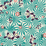 Seamless exotic floral pattern Royalty Free Stock Image