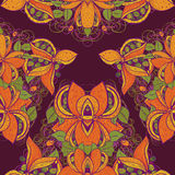 Seamless exotic flower pattern in vector Stock Images