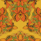 Seamless exotic flower pattern in vector Royalty Free Stock Photos