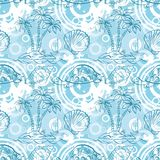 Seamless exotic ocean pattern Stock Photos