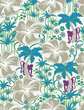 Seamless Exotic pattern. With monkeys Royalty Free Stock Images