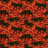 Seamless exotic pattern with abstract silhouettes of animals. Royalty Free Stock Images