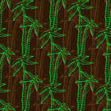 Seamless exotic pattern with palms on dark background. Vector hand draw summer print for design decoration. Stock Images