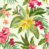 Seamless exotic pattern. Stock Photo