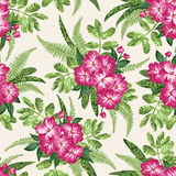 Seamless exotic pattern. Stock Image