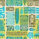 Seamless Exotic Tiki Pattern. Vector illustration. Seamless Exotic Tiki Pattern for fabrics, backgrounds, wallpaper and scrapbook paper. Vector illustration royalty free illustration
