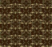 Seamless expensive Victorian pattern in retro vintage Royalty Free Stock Image