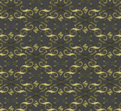 Seamless expensive Victorian pattern in retro vintage Stock Photography