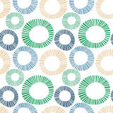 Seamless exploding striped circles Stock Photos