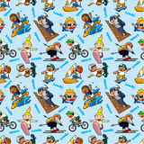 Seamless Extreme sport pattern Royalty Free Stock Photo