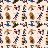 Seamless extreme sport pattern Royalty Free Stock Images