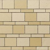 Seamless exture of sandstone beige stone wall. royalty free illustration