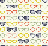 Seamless eyeglasses fabric pattern Stock Photography