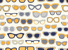 Seamless eyeglasses fabric pattern Royalty Free Stock Photo