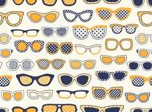 Seamless eyeglasses fabric pattern Royalty Free Stock Photo