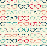 Seamless eyeglasses pattern Royalty Free Stock Photography