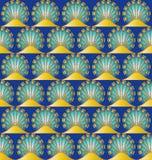 seamless eygptian motiv royaltyfri illustrationer