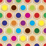Seamless färga ringer mönstrar Arkivbilder