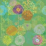 seamless färgrik blom- modell Arkivbilder