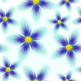 seamless färgrik blom- modell royaltyfri illustrationer