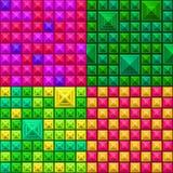 seamless färgrik geometrisk modell för bakgrund Arkivbilder