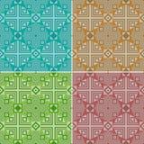 seamless färgrik geometrisk modell traditionellt ethnic royaltyfri illustrationer