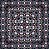 seamless färgrik modell Det kan vara nödvändigt för kapacitet av designarbete fyrkantig textur Arkivbild