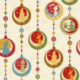seamless färgrik modell för jul Arkivbild