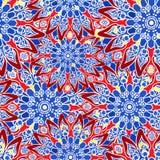 seamless färgrik modell orientalisk stil Tyg- eller tapettextur royaltyfri illustrationer