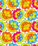 Seamless färgrika blommor för gardin Royaltyfri Foto