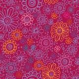 Seamless färgrika blommor texturerar Vektor Illustrationer