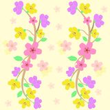 Seamless färgrika sakura mönstrar vektorn Royaltyfri Illustrationer