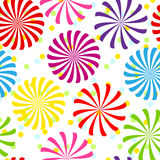 Seamless färgrikt röra sig i spiral mönstrar Arkivbild