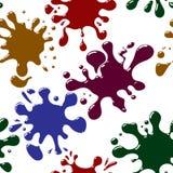 seamless färgstänk för abstrakt bakgrund vektor illustrationer