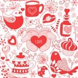 seamless förälskelsemodell Stock Illustrationer